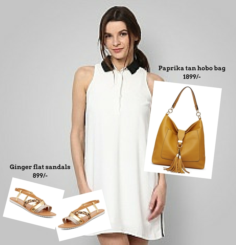 Paprika tan hobo bag with casual look
