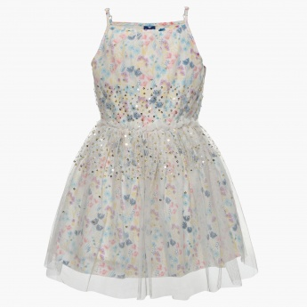 Fame Forever printed party dress for girls