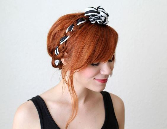 Scarf braid forest hairstyle