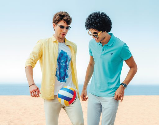 Beach holiday fashion for men