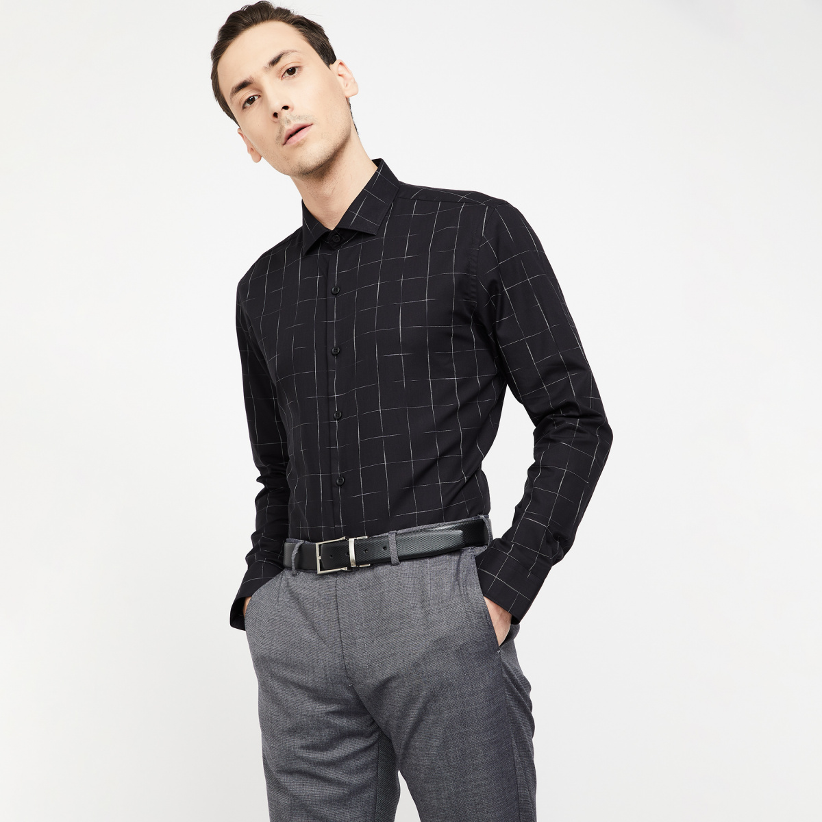 CODE FORMAL Checked Full Sleeves Shirt