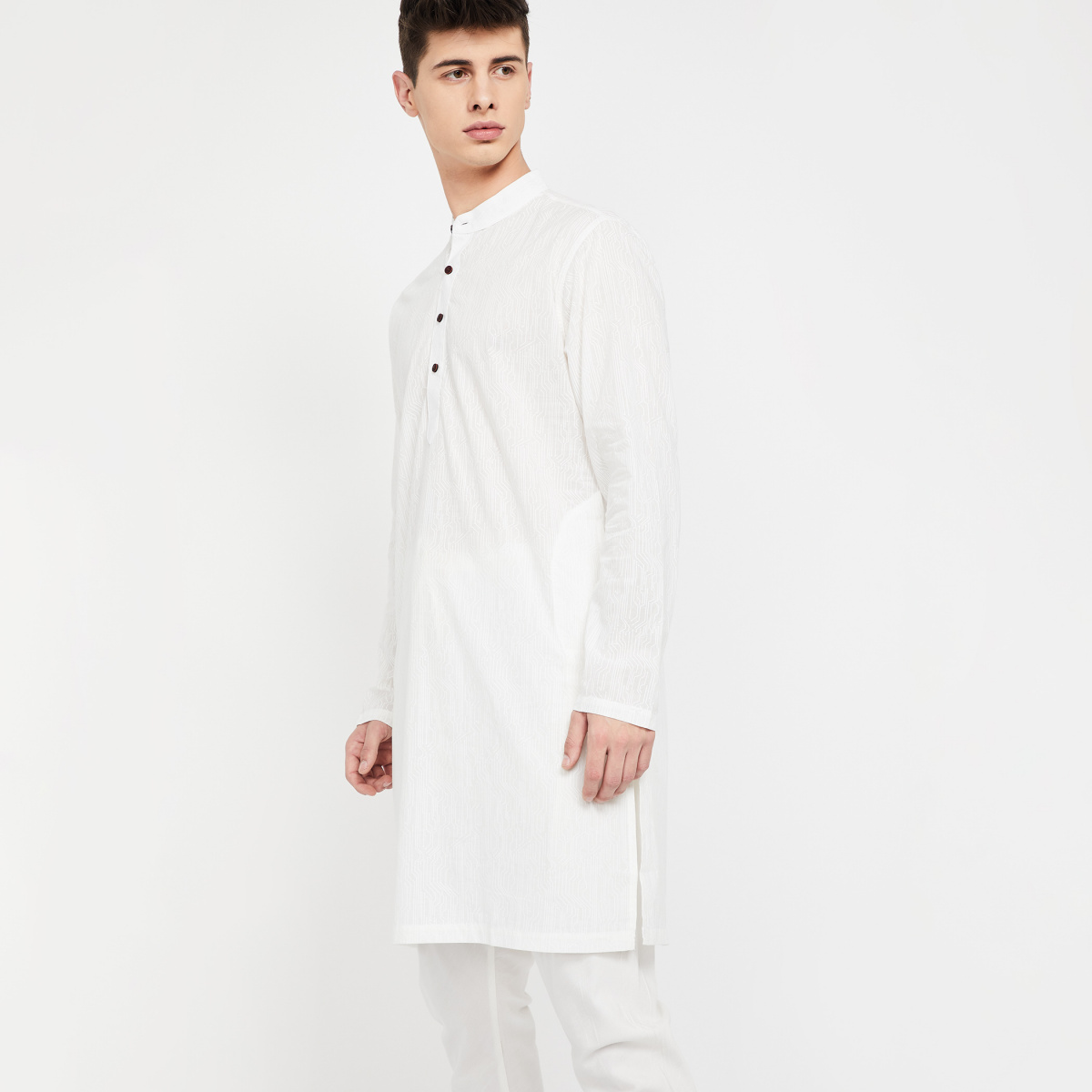MELANGE Textured Long Kurta