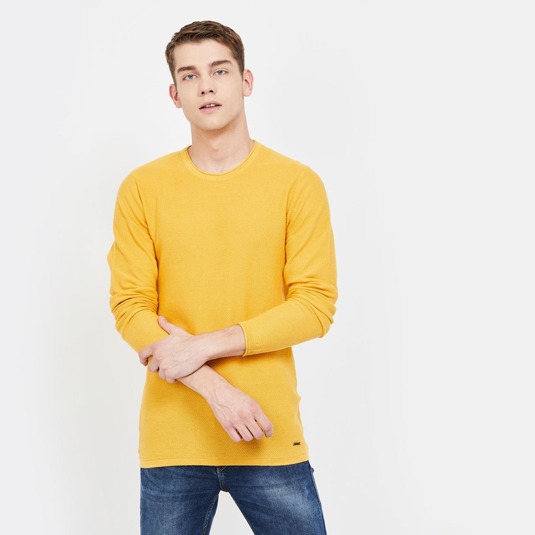 BOSSINI-Textured-Crew-Neck-Sweater