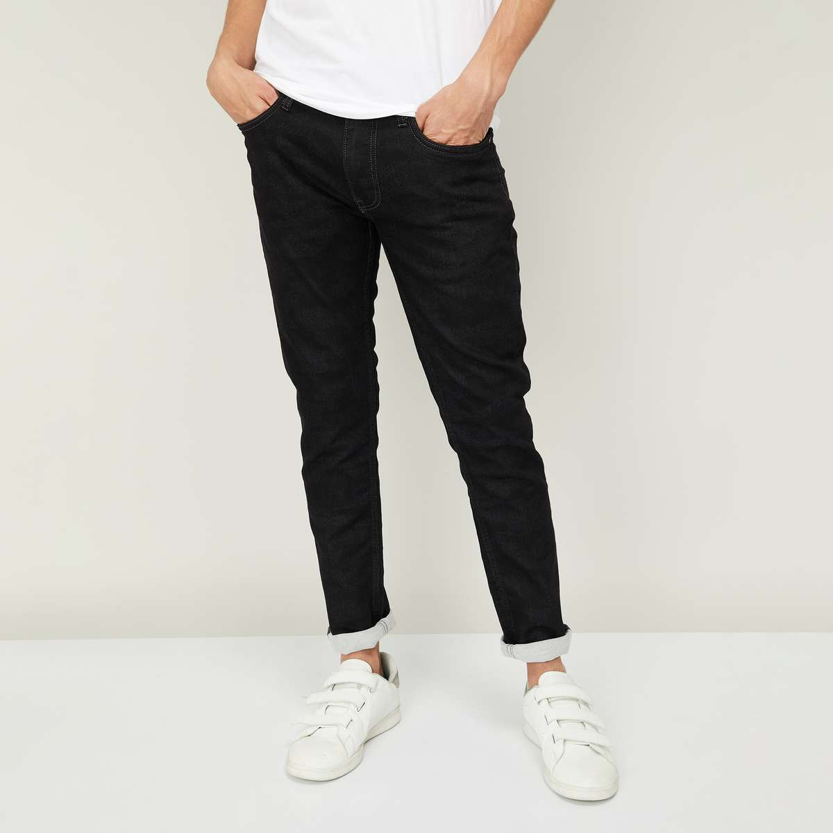 JACK & JONES Men Solid Skinny Fit Jeans