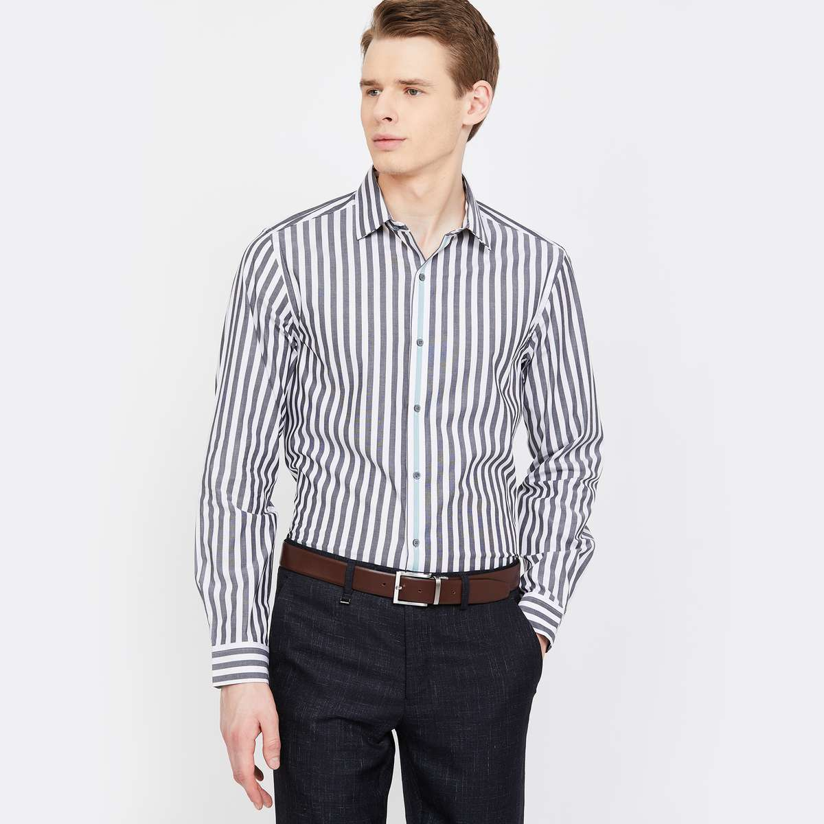 ARROW NEW YORK Striped Super Slim Fit Formal Shirt