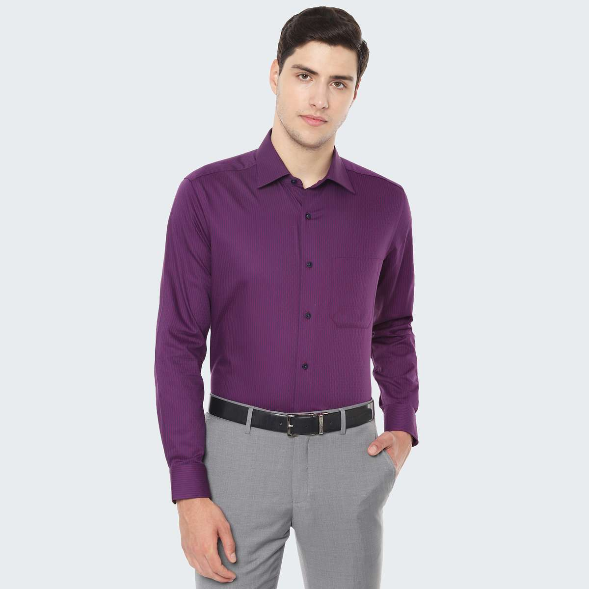 LOUIS PHILIPPE Striped Regular Fit Formal Shirt