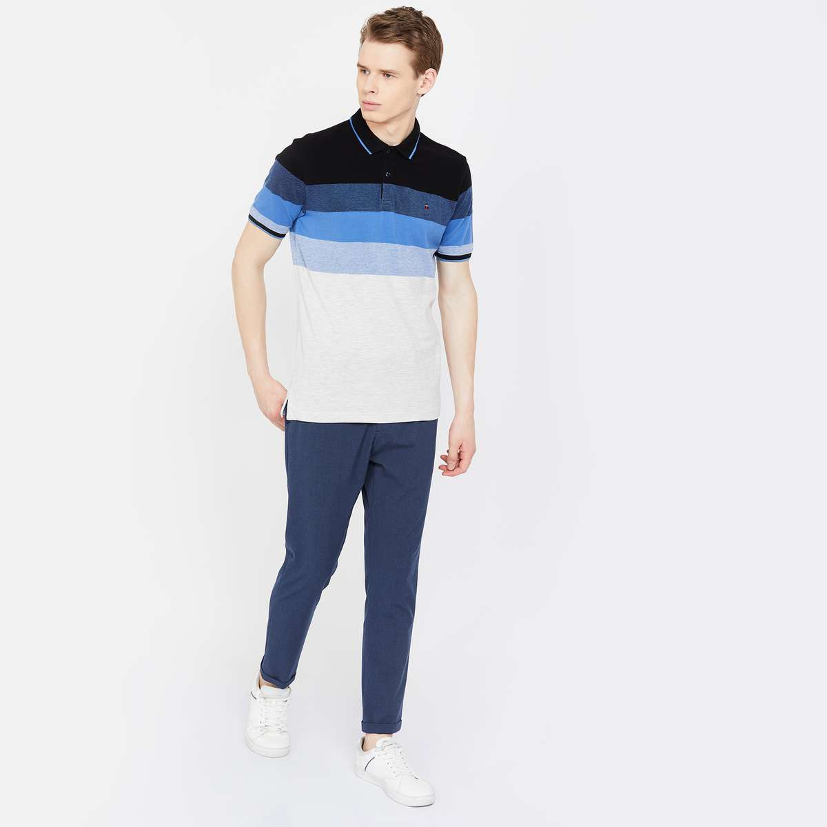 LP Striped Regular Fit Polo T-shirt