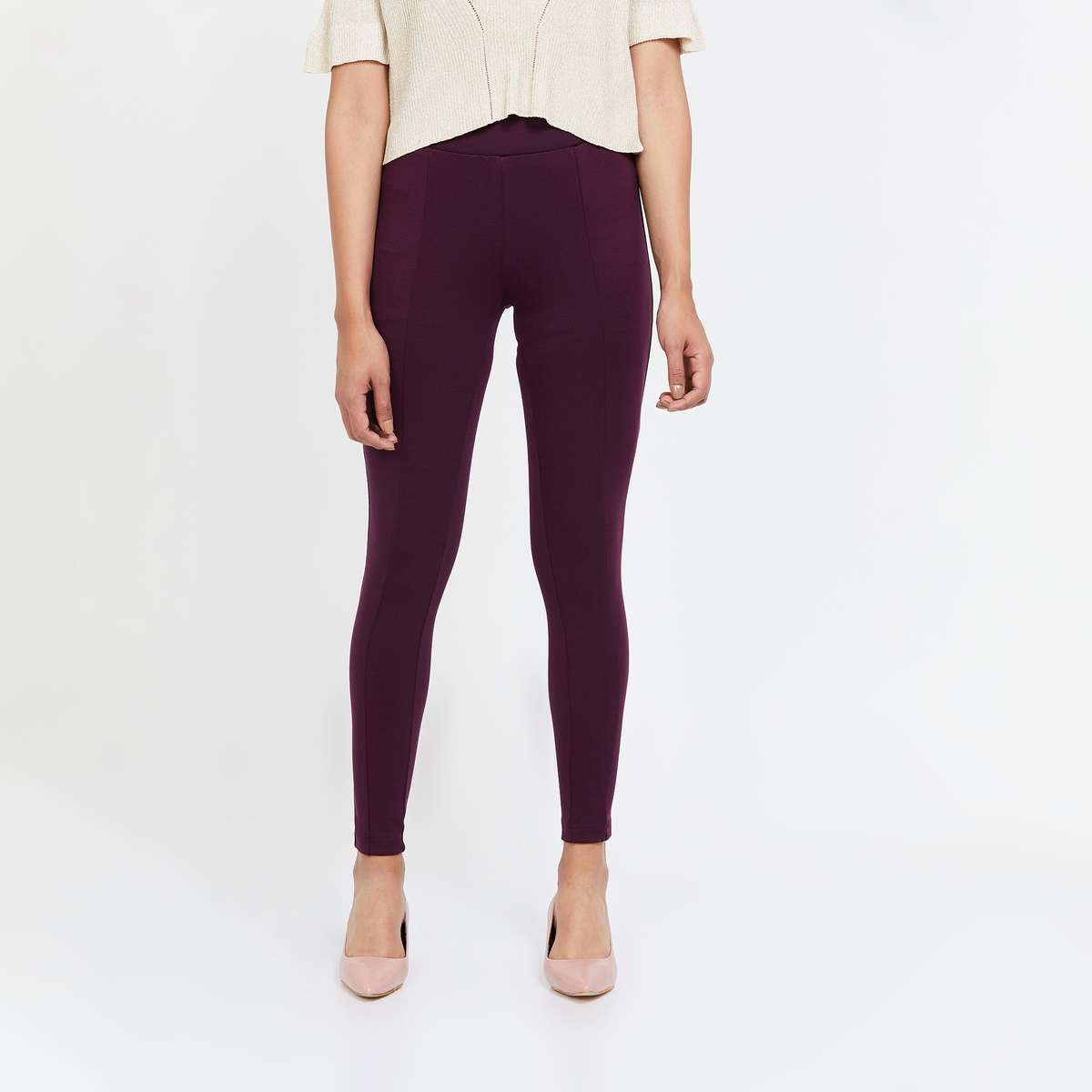 VAN HEUSEN Solid Elasticated Treggings