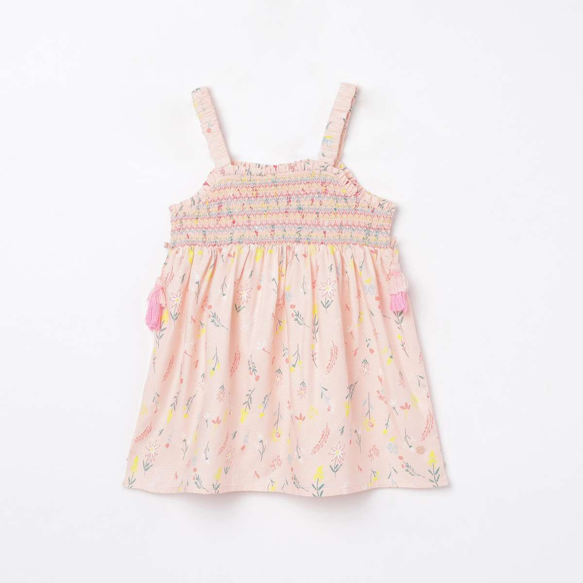 BOSSINI Girls Printed Sleeveless Top with Smocked Detail