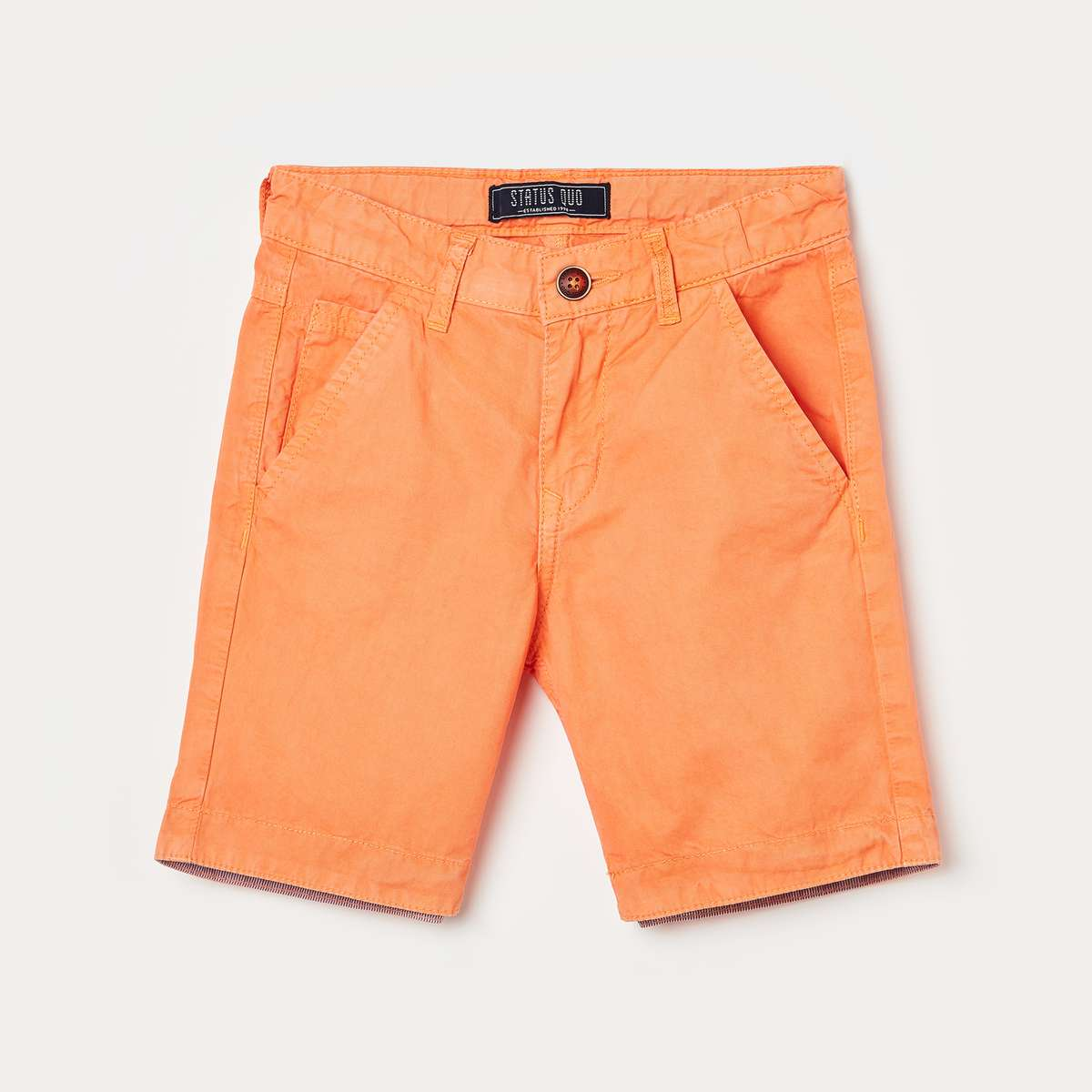STATUS QUO Boys Solid Woven Shorts