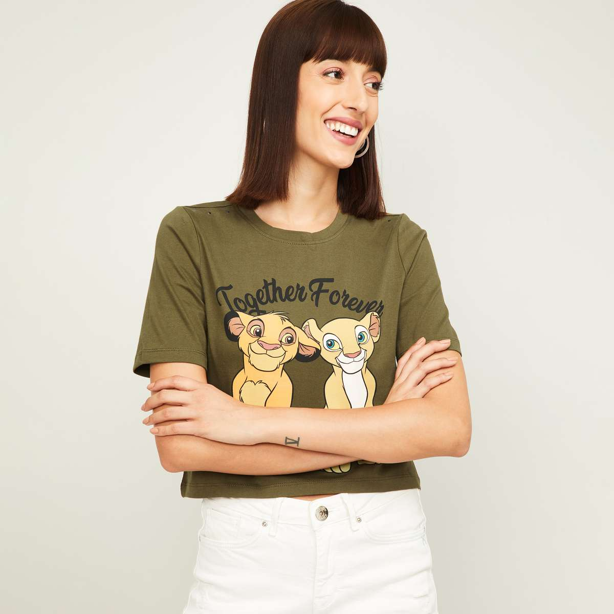 1-GINGER Women Printed T-Shirt