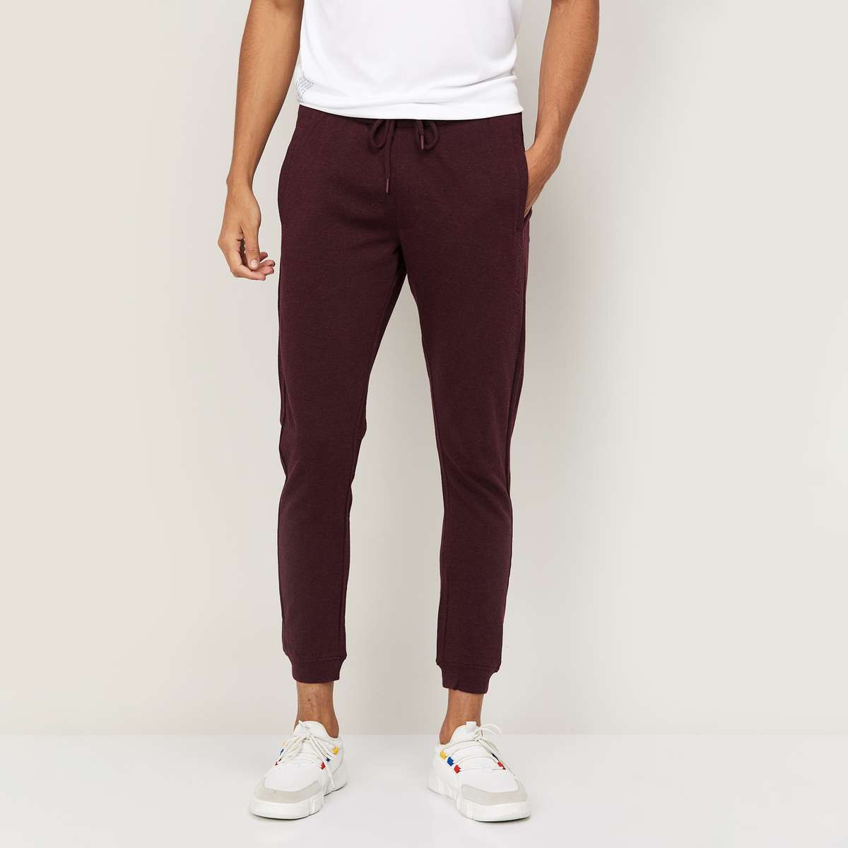 2.KAPPA Men Solid Elasticated Joggers