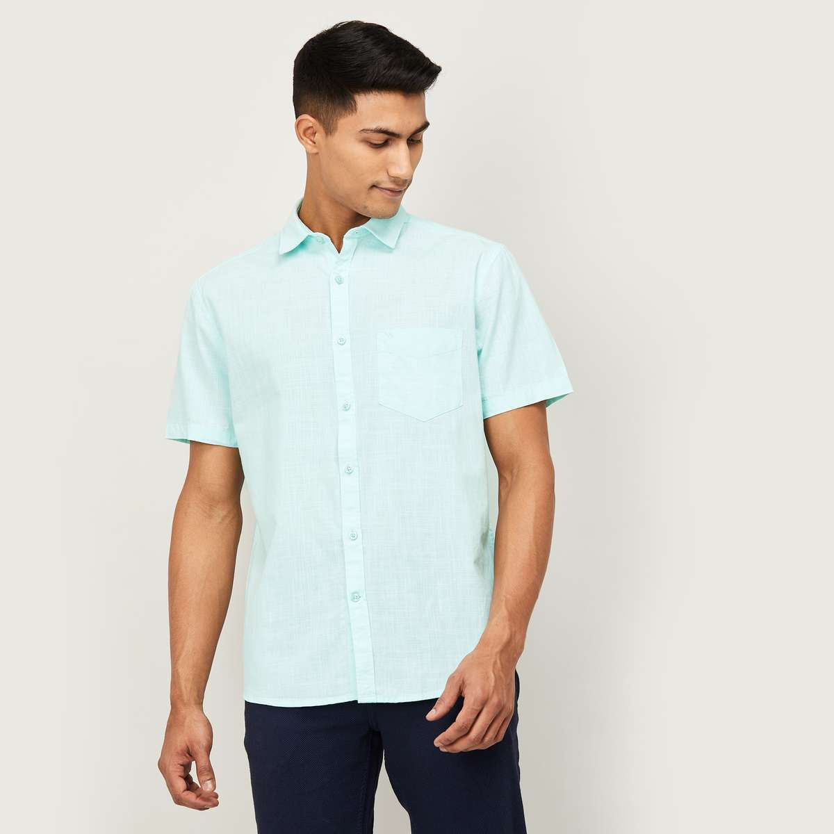 3.CODE Men Solid Regular Fit Casual Shirt