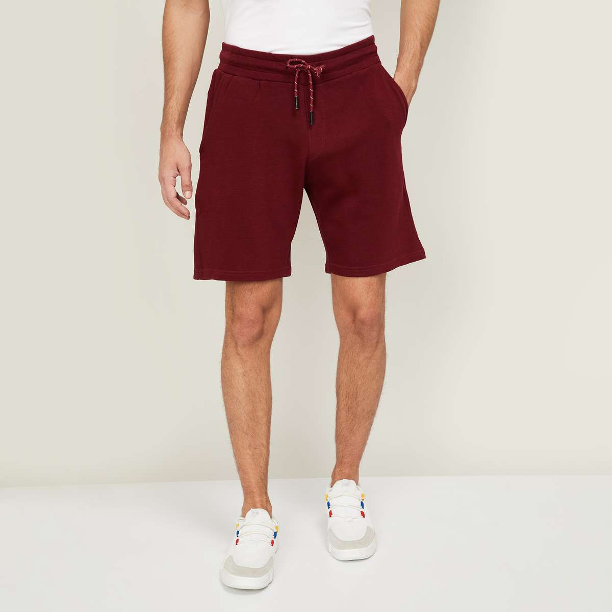 3.LEE COOPER Men Solid Elasticated Shorts