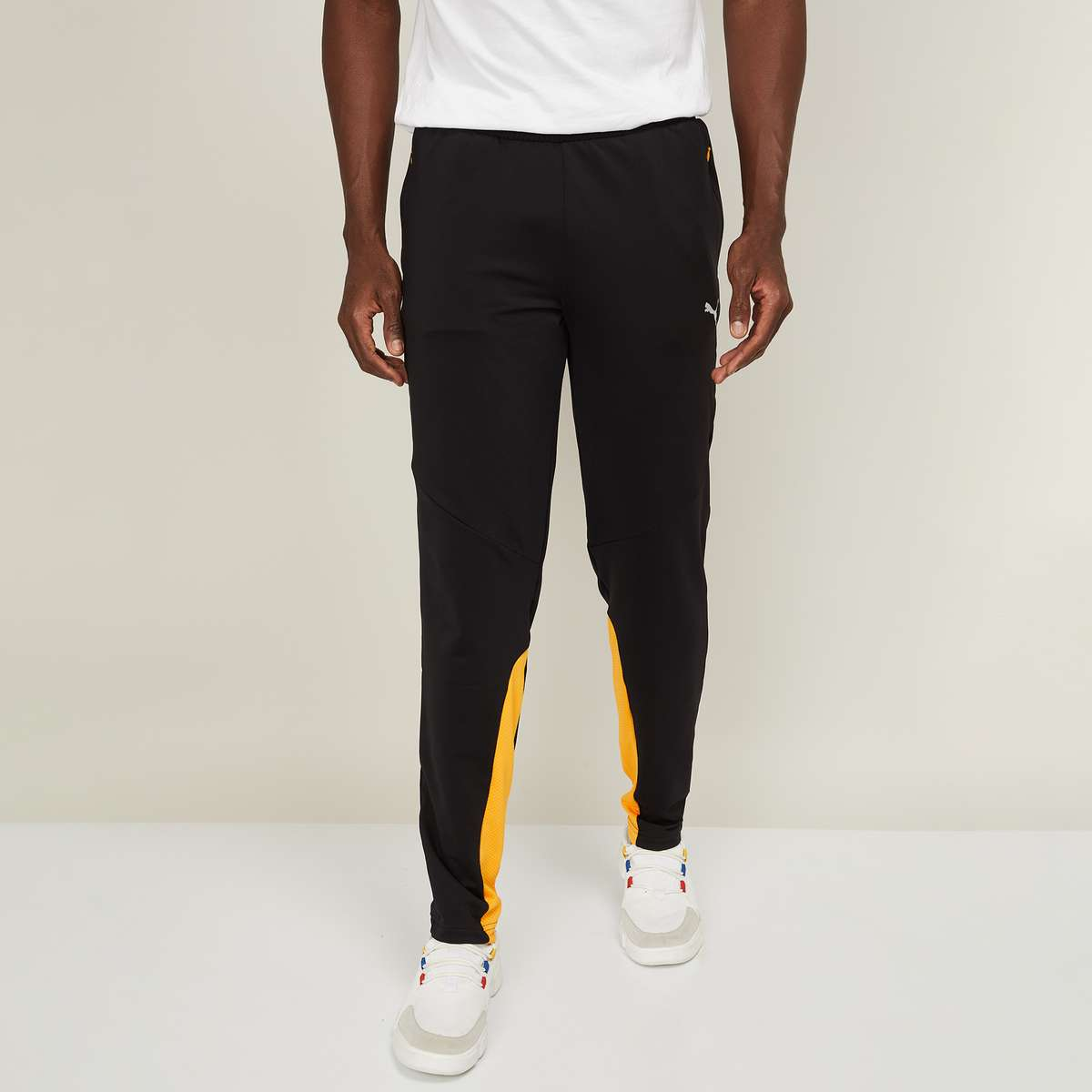 3.PUMA Men Printed Elasticated Track Pants