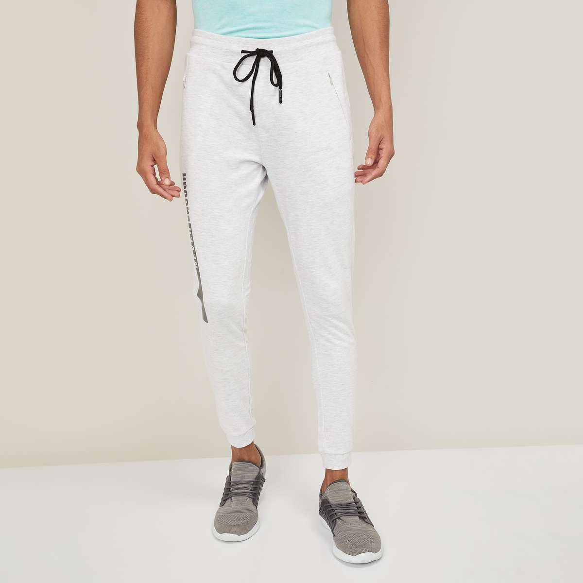 4.KAPPA Men Printed Elasticated Track Pants