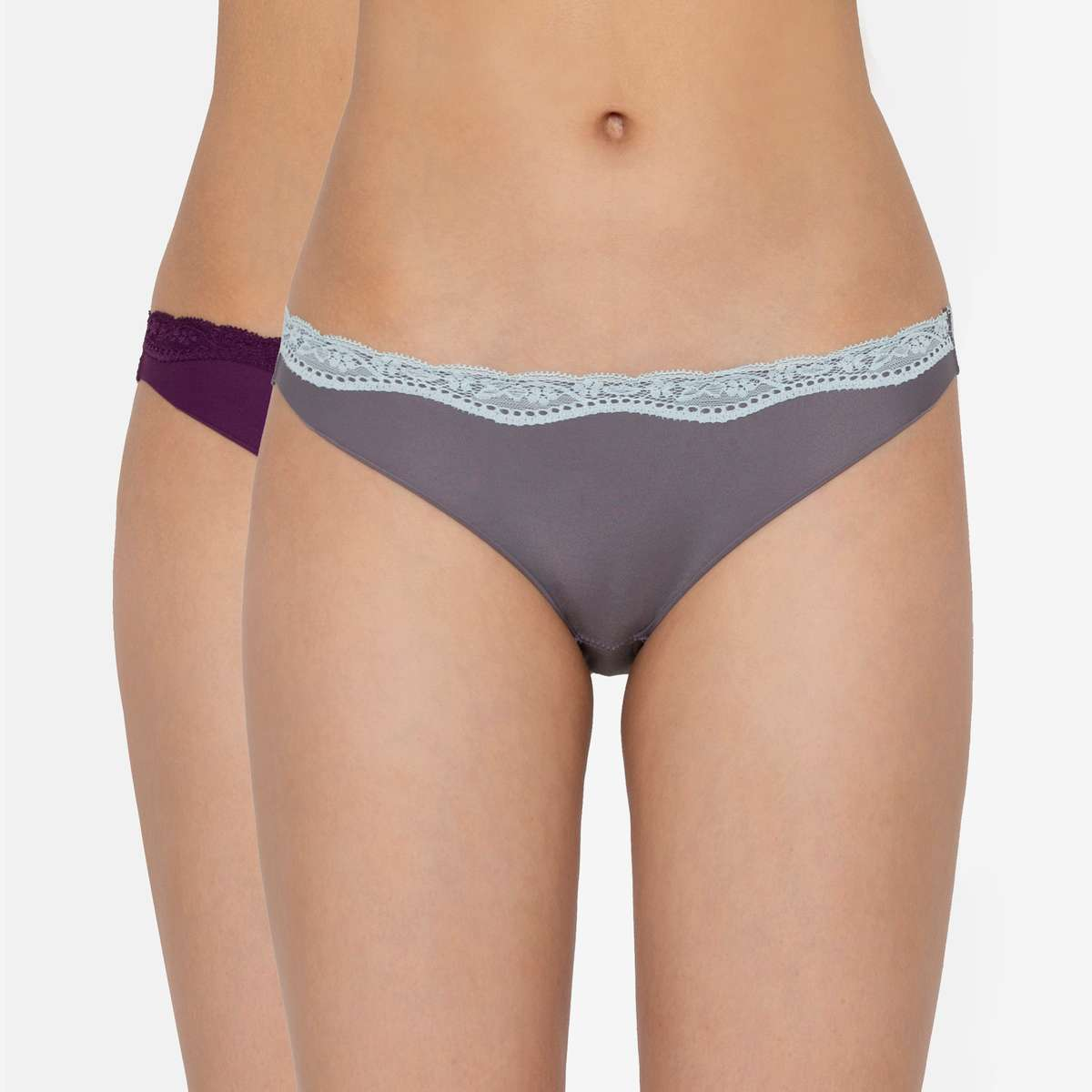 6.TRIUMPH Stretty Everyday Microfibre Bikini Lace Panties - Pack of 2