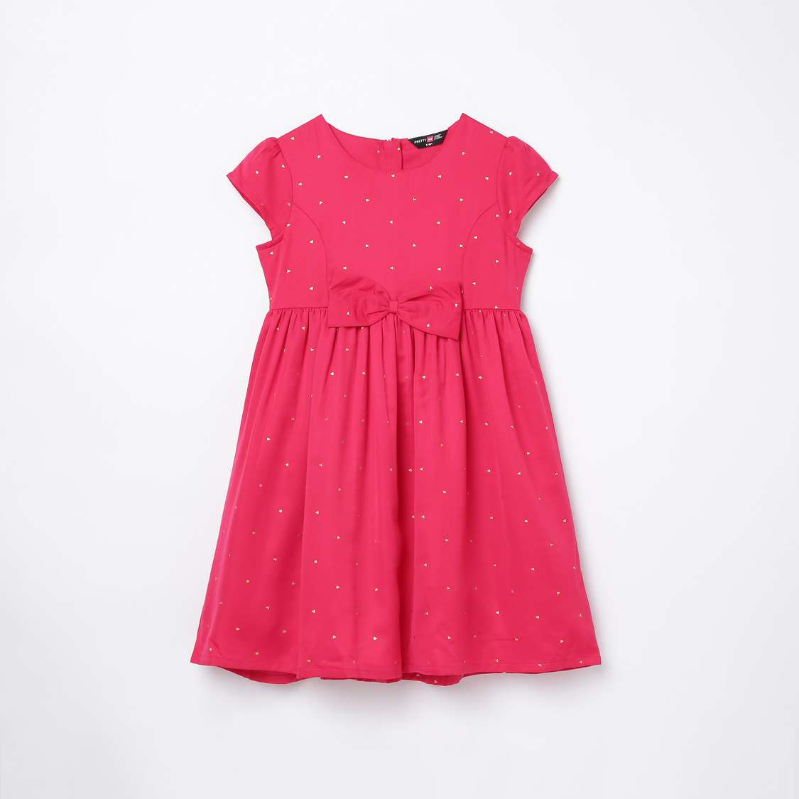 7.PRETTY ME Girls Printed Fit and Flare Dress