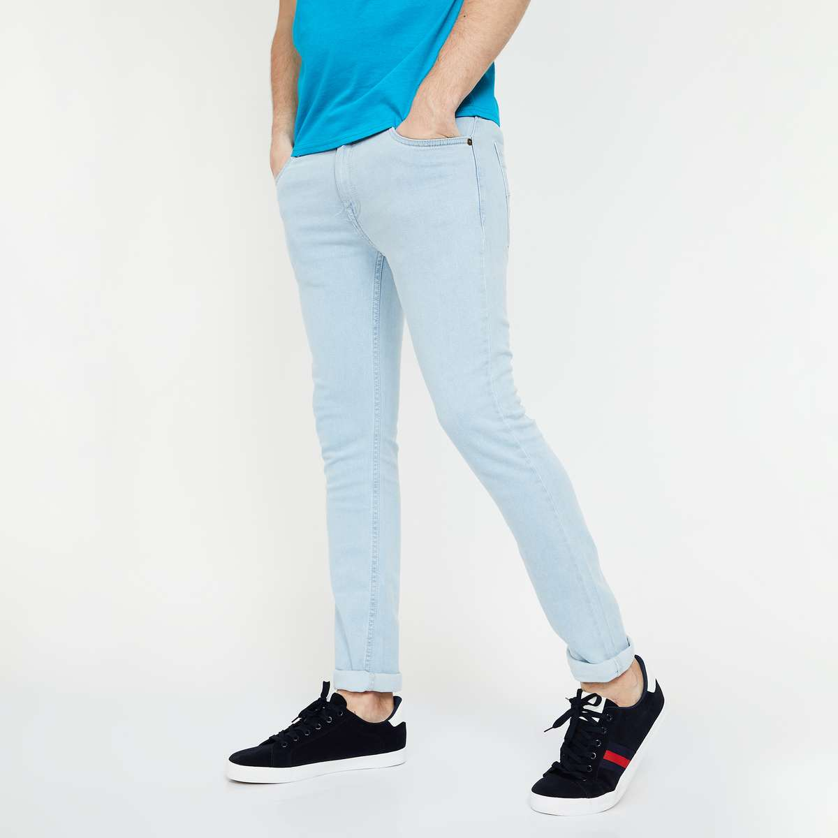 FORCA Solid Low-Rise Skinny Fit Jeans
