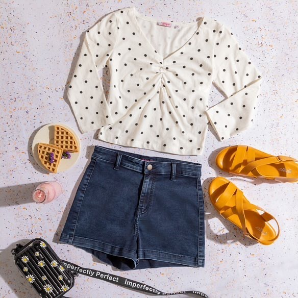polka dotted top-2