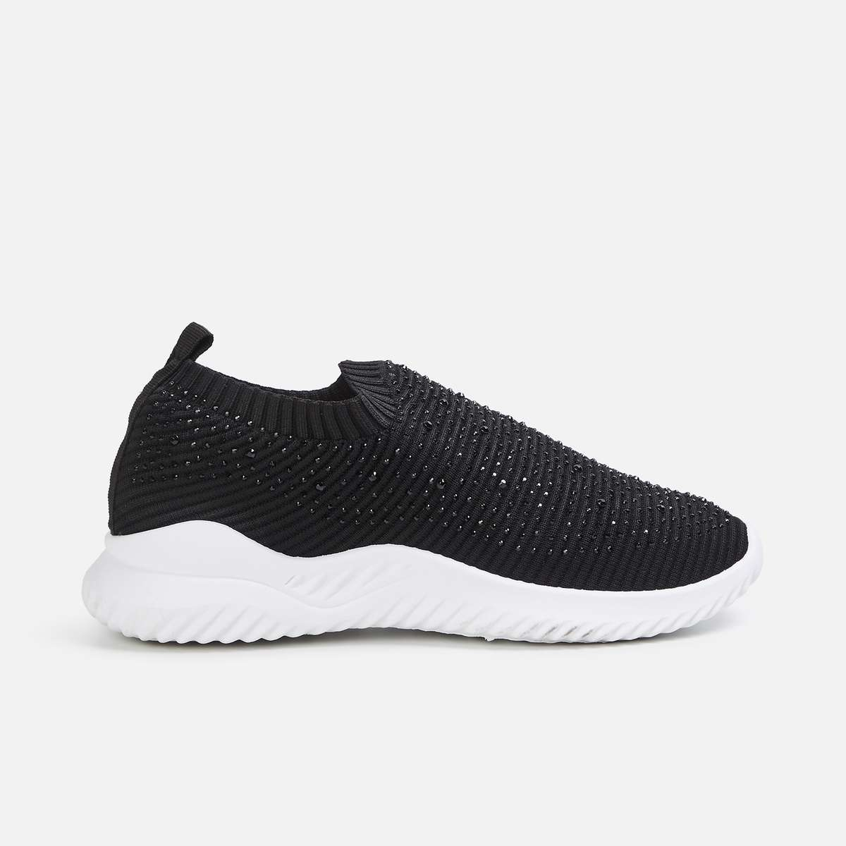 3.GINGER Women Textured Sock-Knit Shoes