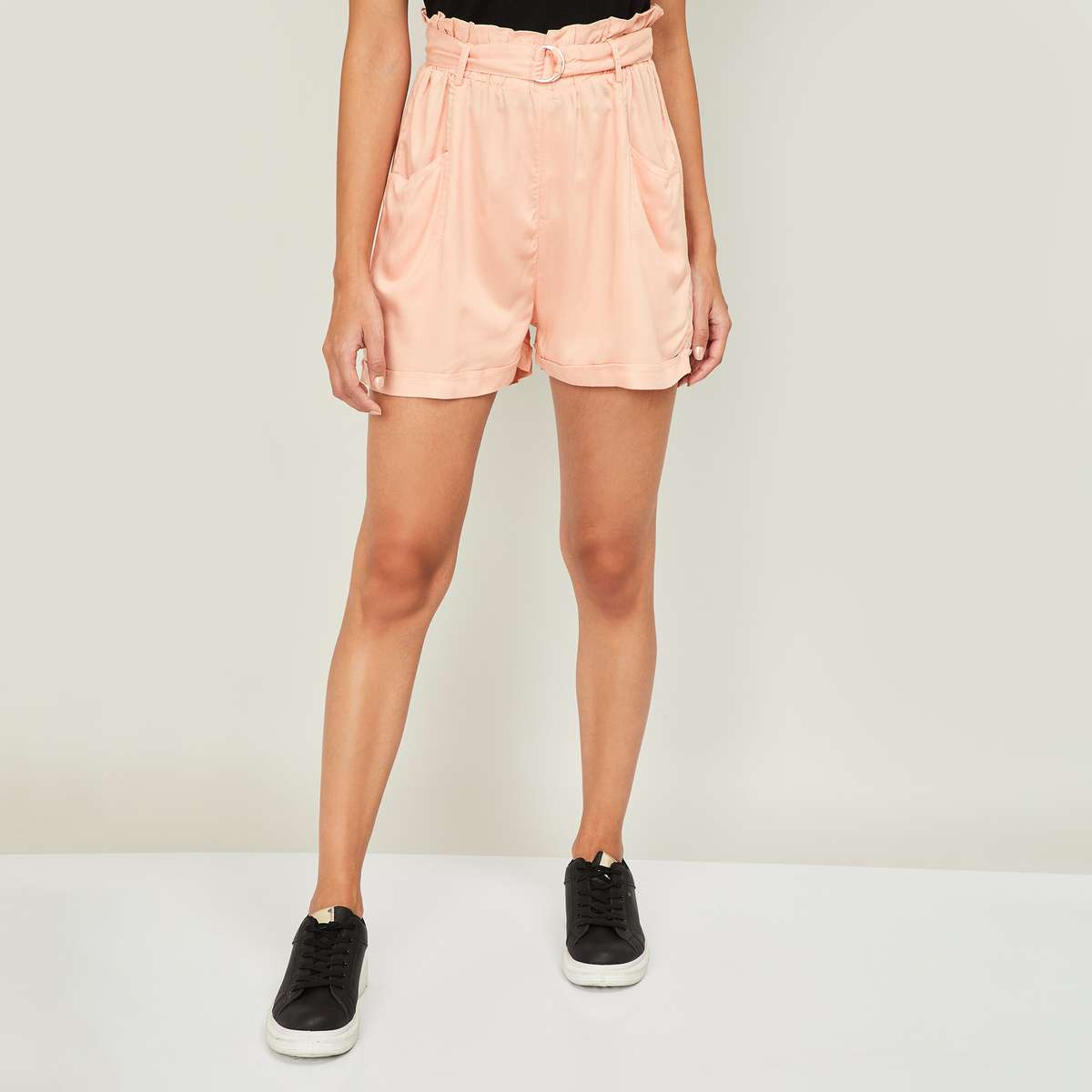 4.GINGER Women Solid Shorts