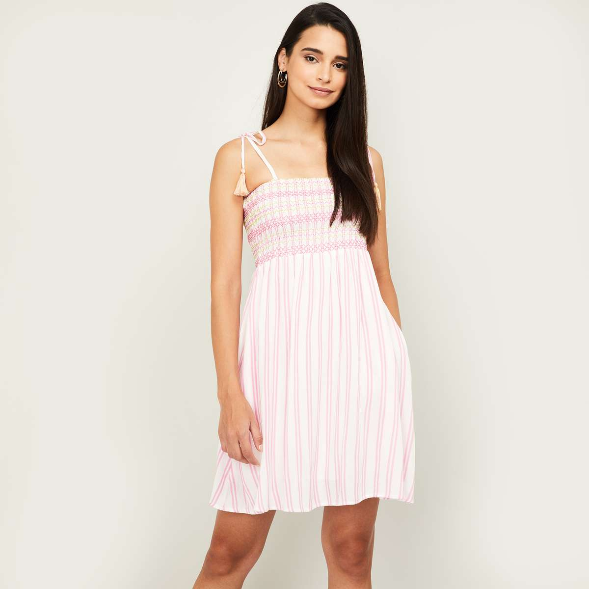 7.GINGER Women Striped Camisole Dress