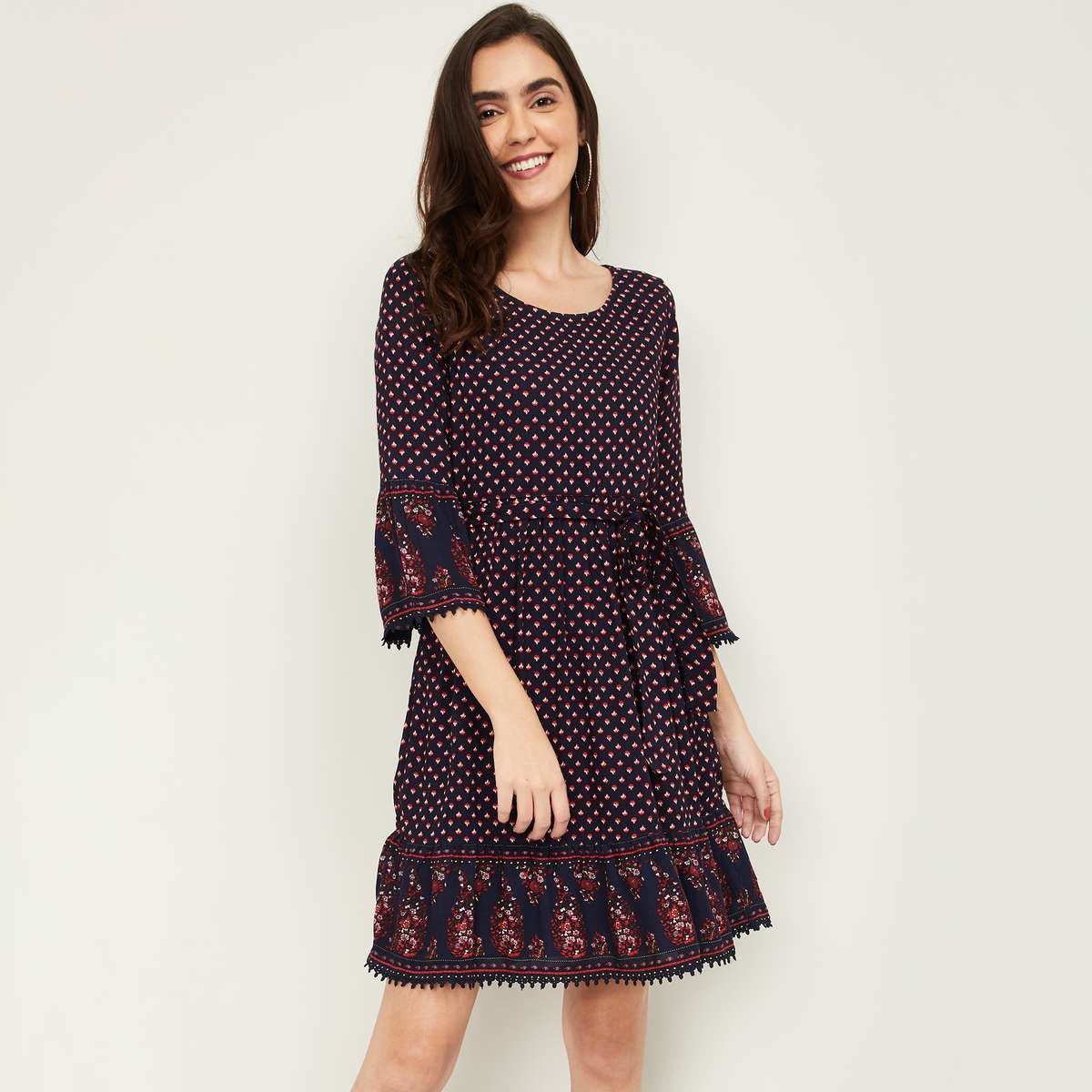 1.FAME FOREVER Women Printed A-Line Dress