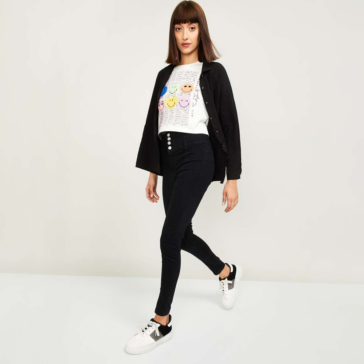 3.GINGER Women Solid Skinny Fit Jeans