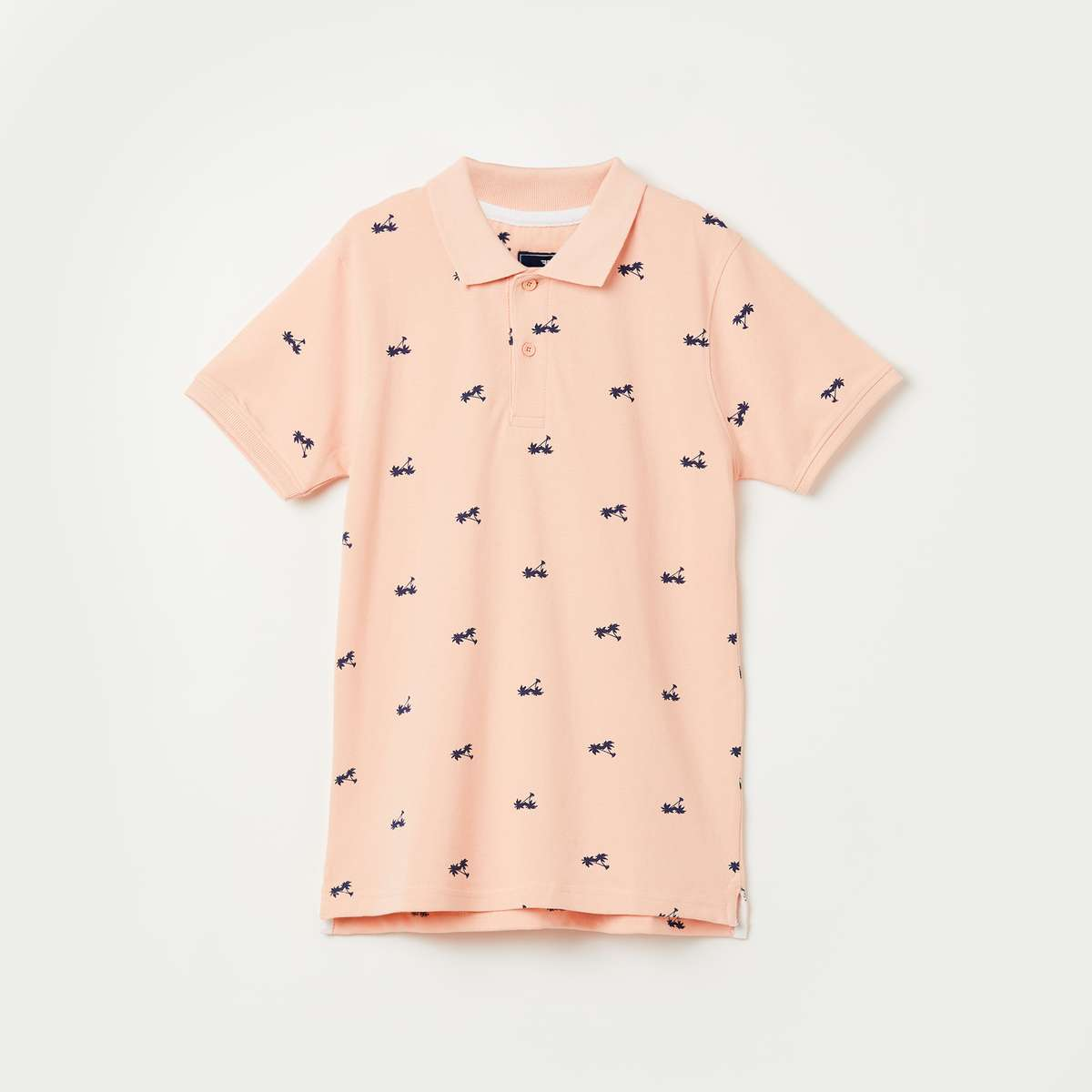FAME FOREVER YOUNG Tropical Print Short Sleeves Polo T-shirt