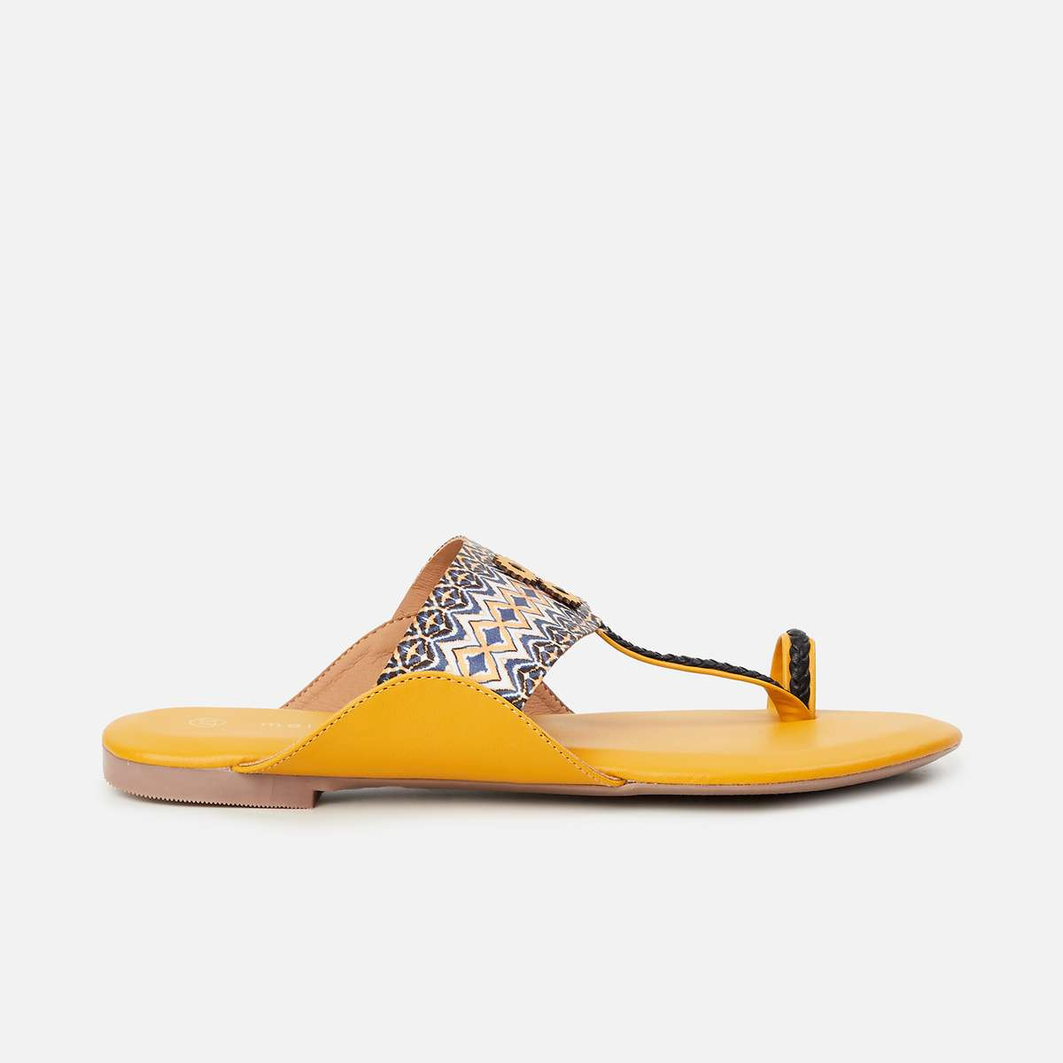 2.MELANGE Womens Printed Chappals with Toe-Ring