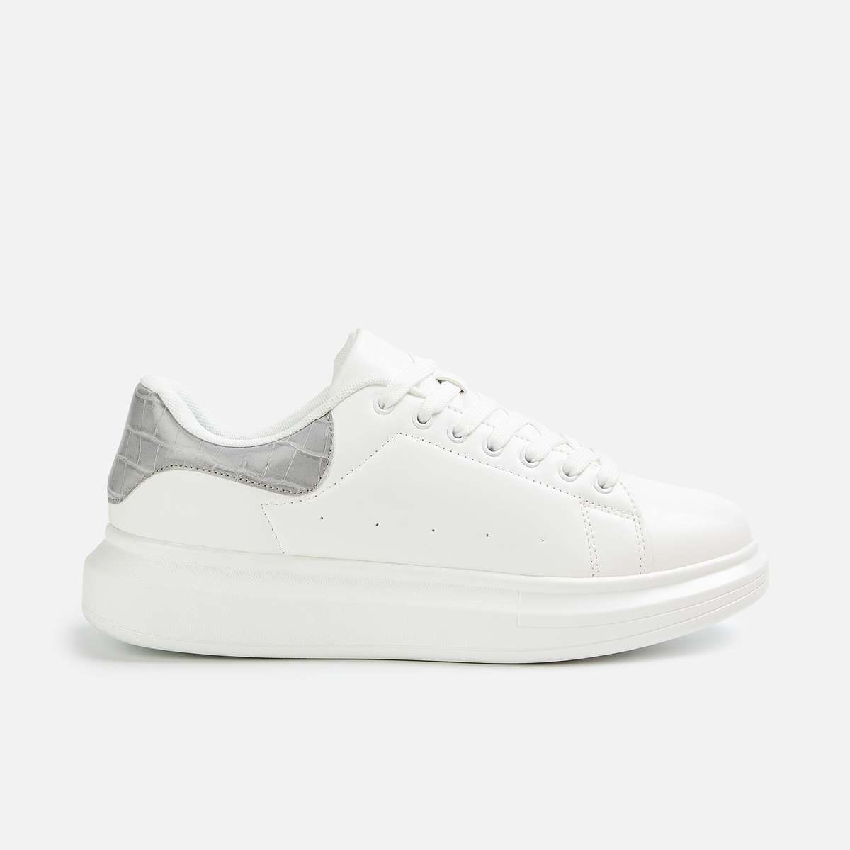 3.GINGER Women Panelled Lace-Up Casual Sneakers