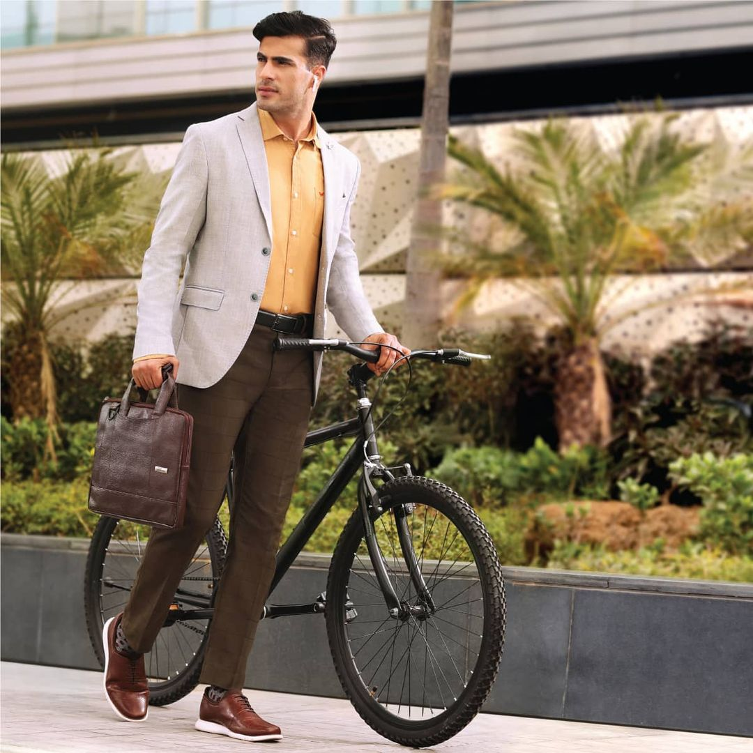 1.styling these Textured Slim Fit Casual Trousers with your favourite shirts!