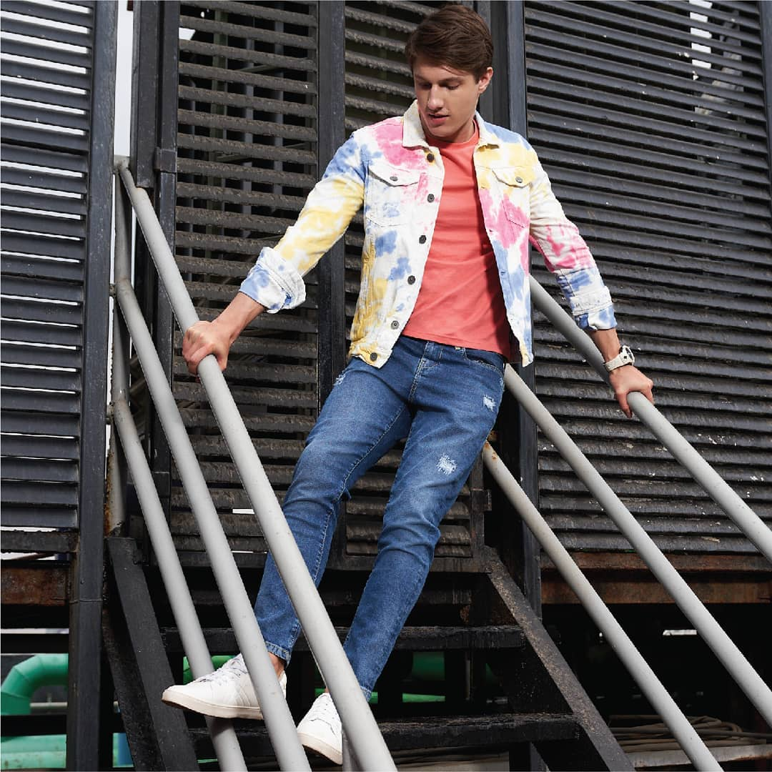 1.tie-dye print jacket from Forca by Lifestyle.