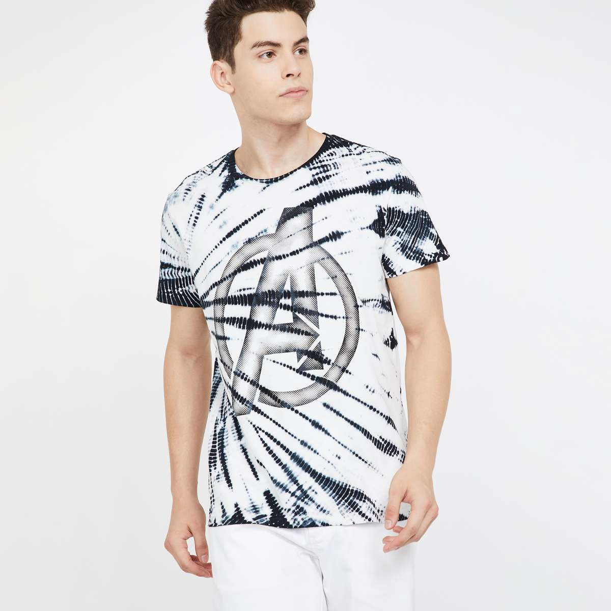 10.FREE AUTHORITY Printed Regular Fit Crew Neck T-shirt