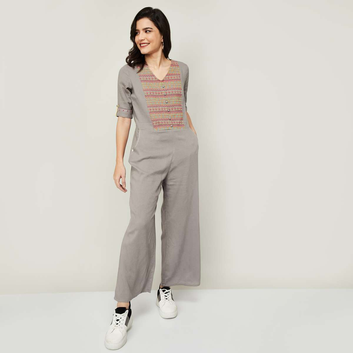 2.COLOUR ME Women Embroidered Jumpsuit