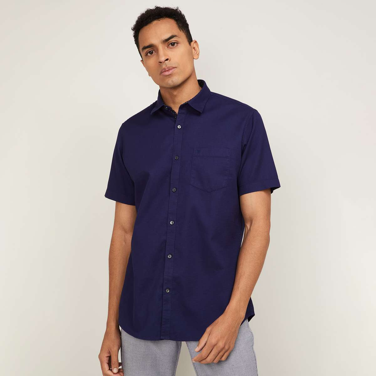 3.VH SPORTS Men Solid Slim Fit Casual Shirt