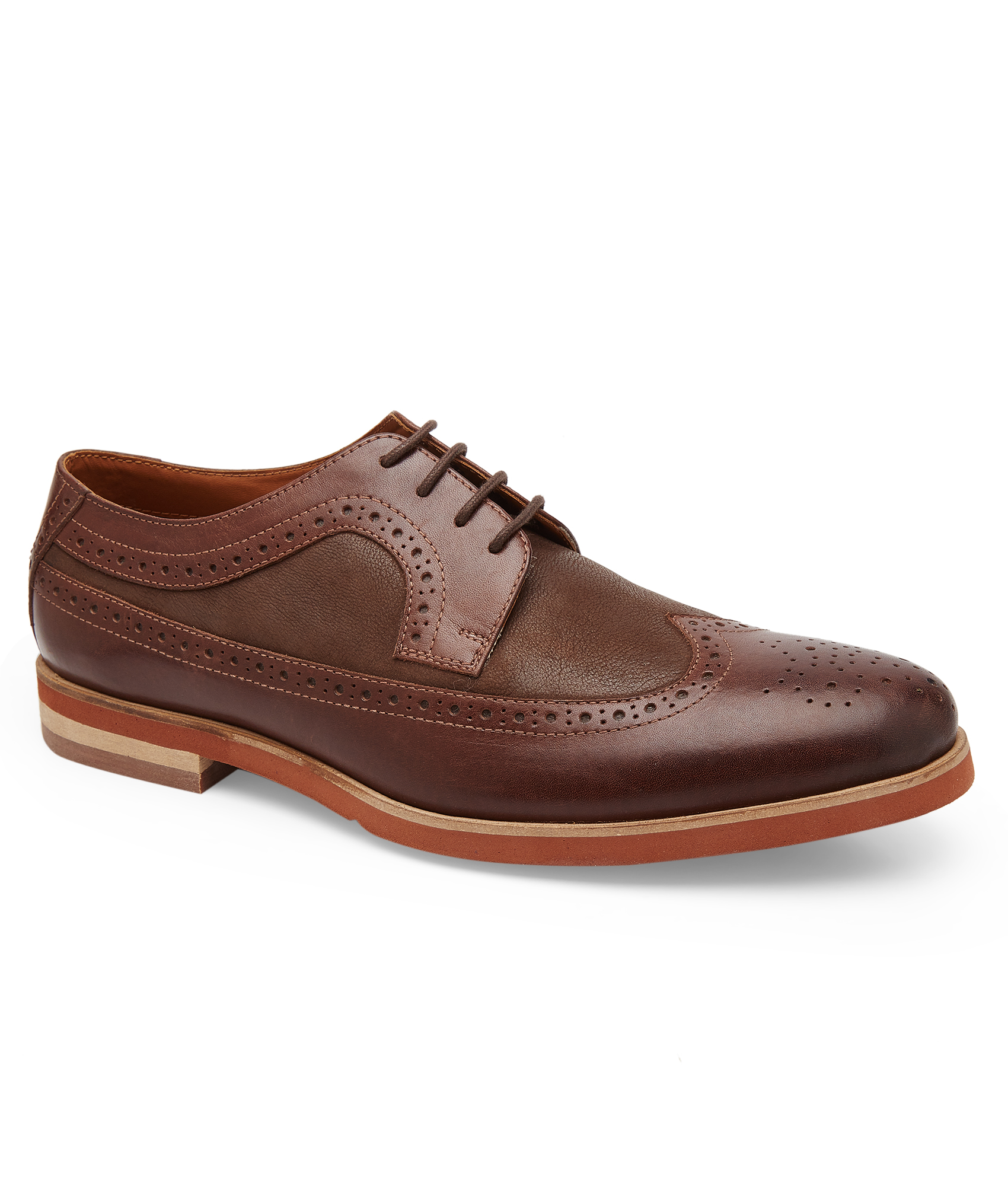 mens brogues dark brown