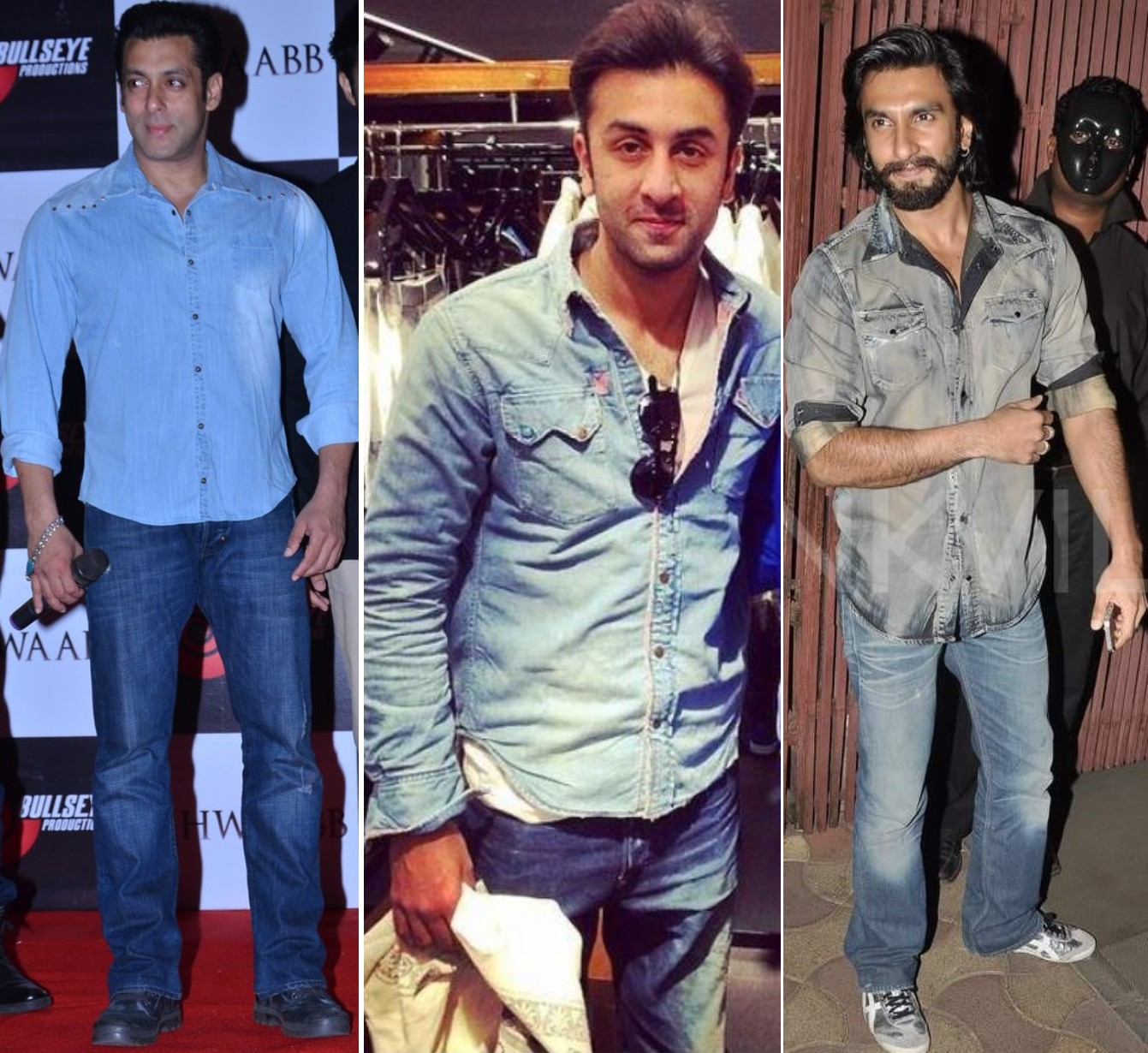 Bollywood men in Denim on Denim.