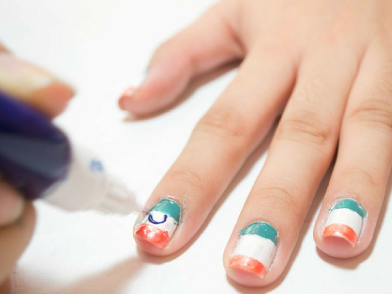 fusion fashion nail art Independence Day