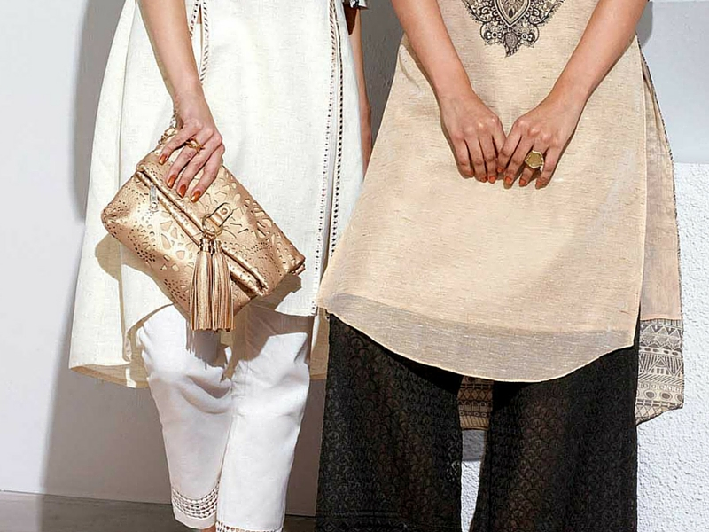 Shimmery bags