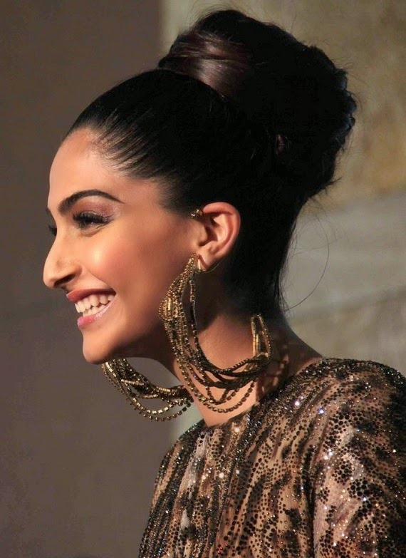 Diwali hairstyle top knot